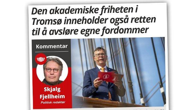 NTL-styremedlemmer ved UiT Norges arktiske universitet reagerer på denne kommentarartikkelen fra Nordlys' politiske redaktør.