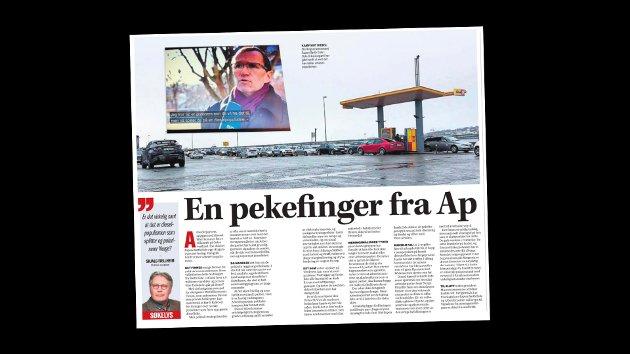 Ap-medlem Rolf Lasse Lund kommenterer denne kommentarartikkelen fra politisk redaktør Skjalg Fjellheim.