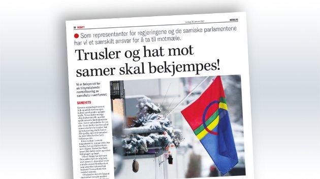 Nordlys' papirutgave 30. januar.