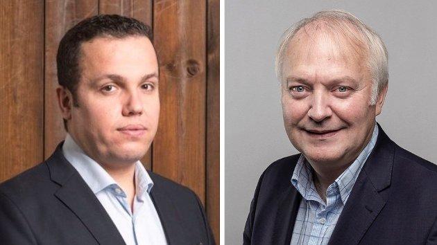 MakvanKasheikal og Vidar Kleppe, leder og politisk nestleder i Demokratene
