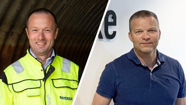 Øyvind Emblem, konsernsjef i Håndverksgruppen AS og Thomas Schwenke, daglig leder i Schwenke & Sønn AS.