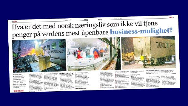 Sjømat Norge svarer på dette innlegget fra Tromsø Arbeiderpartis Arild Hausberg.