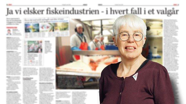 Den røde tråden i det lange innlegget fra Lerøys myndighetskontakt Stig Nilsen er å latterliggjøre to navngitte kommunepolitikere, der jeg er den ene. Synspunkter som ikke faller i hans smak skyldes «kunnskapshull» hos meg og oss politikere. Forsiktig sagt er dette både et umusikalsk og særdeles lite vakkert bidrag fra en toppleder i ett av Norges største fiskerikonsern, skriver SVs Herbjørg Valvåg.