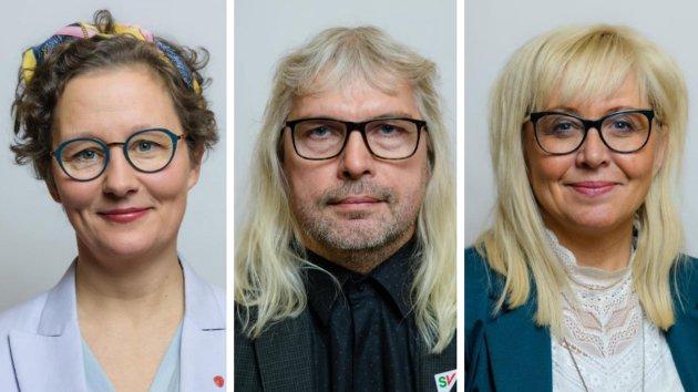 FYLKESTROIKA: Kristin Røymo (Ap), Alf Normann Hansen (SV) og Irene Lange Nordahl (Sp)