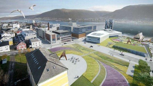 Et av utkastene fra AT Plan & Arkitektur i samband med planlegging av det nye universitetsmuseet.