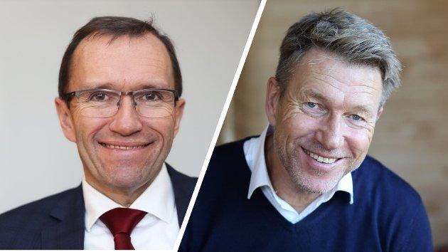 Espen Barth Eide, energi- og klimapolitisk talsperson, og Terje Aasland, næringspolitisk talsperson, Arbeiderpartiet