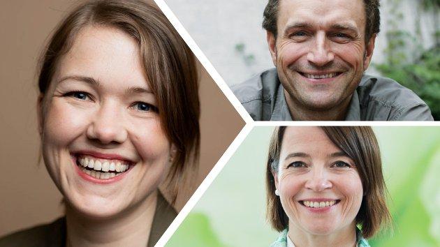 MDG-ledelsen: Une Bastholm, Arild Hermstad og Kriss Rokkan Iversen.
