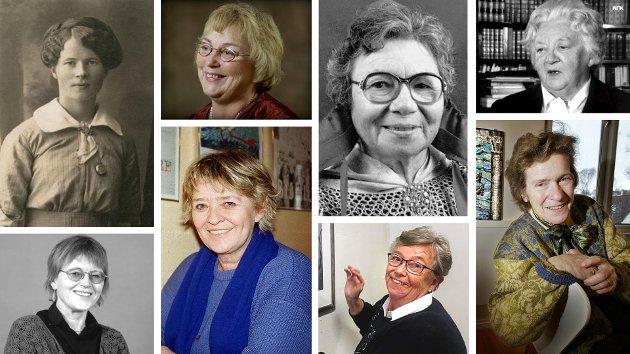 Over fra venstre: Vanny Wollstad, Alvhild Yttergård, Kathrine Johnsen og Karoline Mathisen. Under fra venstre: Tove Bull, Kirsti Sparboe, Inger-Lise Sverdrup og Marit Bockelie.