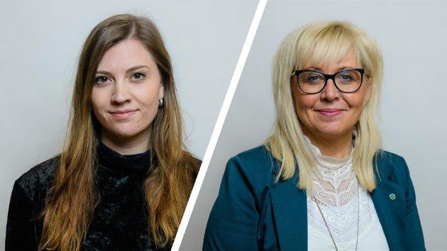 Rikke Håkstad, medlem av miljø og næringskomiteen, og Irene Lange Nordahl, gruppeleder Senterpartiets fylkestingsgruppe, Troms og Finnmark Fylkesting.