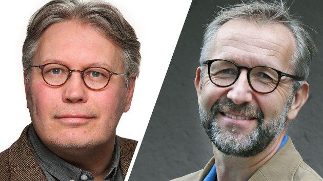 DEBATT: Skjalg Fjellheim og Stein-Gunnar Bondevik.