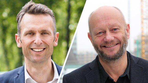 Knut Kroepelien, administrerende direktør, Energi Norge, og Stein Lier-Hansen, administrerende direktør, Norsk Industri.