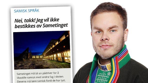 Sametinget vil fortsette å arbeide med å løfte status for samiske språk og skape en bedre videregående skole for alle elever. På vegne av sametingsrådet tar jeg Are Markku Tjihkkoms tanker om samiskundervisningen på det største alvor og jeg ønsker debatt om hvordan vi kan løse denne utfordringen velkommen, skriver sametingsråd Eskil Mikkelsen.