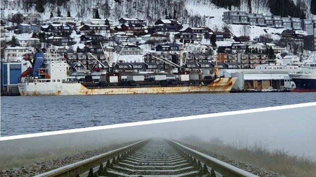 Båtfrakt av fisk fra Nord-Norge kan ikke måle seg med en moderne jernbane - som fra 2029 gjør det mulig å nå kontinentet på ett døgn. Med fortsatt vogntogtransport risikerer næringslivet i nord sviende klimaavgifter fra EU, skriver Steinar Eliassen.