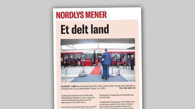 Når lederteksten beskriver et delt land, så har ikke Nordlys bidratt til å forsøke å bygge bro mellom nord og sør. Tvert imot, skriver jurist Erik Iversen.
