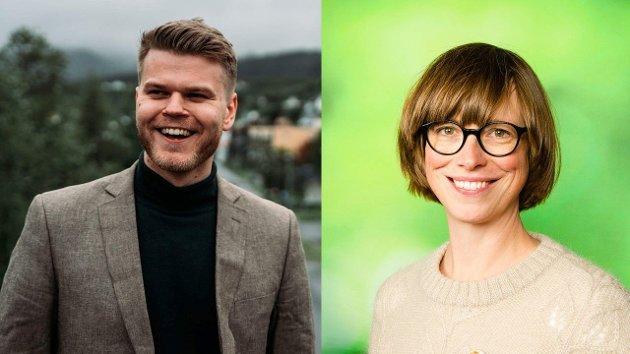 Even Aronsen og Ida Gudding Johnsen, 1. kandidater Troms og Nordland.