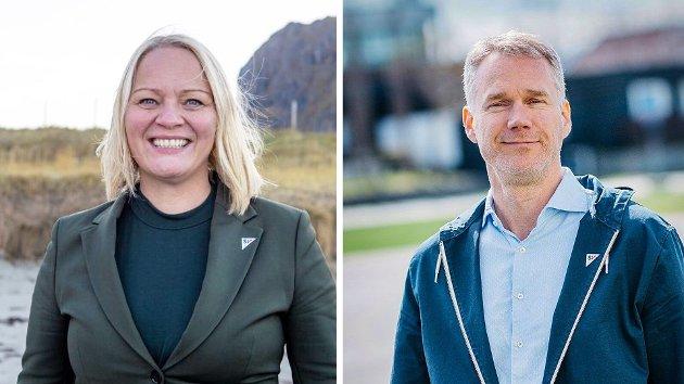 Mona Fagerås og Christian Torset, 1. og 2. kandidat til Stortinget fra SV i Nordland.