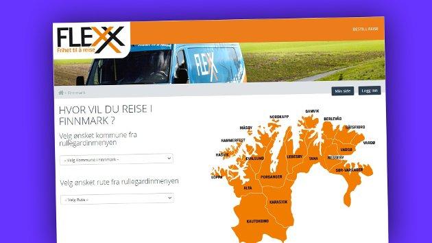 Finnmark.flexx er et system som opprettholder ruter som har for få passasjerer til å kjøre fast. For å unngå tomme busser gjennom fylket, har Troms og Finnmark fylkeskommune opprettet bestillingsruter som bare kjører når det er passasjerer.
