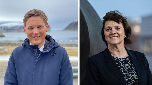Kristina Hansen, leder i Finnmark Ap, og Sigurd Rafaelsen, stortingskandidat og nesteleder i Finnmark Ap