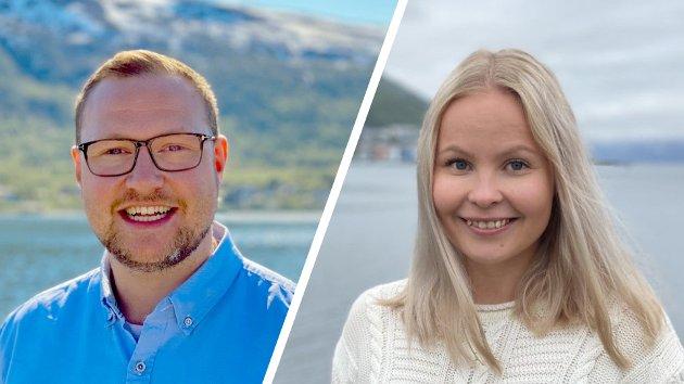 Erlend Svardal Bøe og Tonje Nilsen, 1. og 3. kandidat til stortingsvalget for Troms Høyre