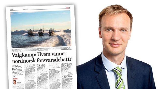 Høyres førstekandidat i Nordland, Bård Ludvig Thorheim, svarer på kronikken fra forsvarsanalytiker John Berg.