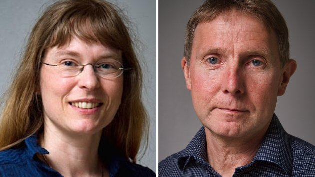 Hanne Stenvaag, 1. kandidat, og Jens Ingvald Olsen, 12. kandidat for Rødt Troms.