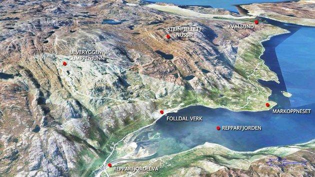 Prosjektet i Repparfjorden er svært spennende sett fra et miljøståsted. Det planlegges for helelektrifisering av driften og utstyret som skal benyttes i gruva, kan gjøre prosjektet utslippsfritt, skriver Anita Helene Hall. Illustrasjon: Nussir