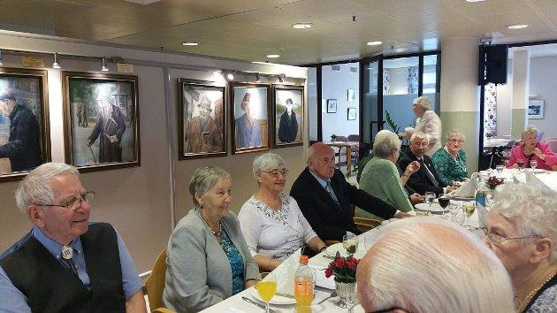 Det har vært et godt år for pensjonistforeningen.  Bildet er fra markeringa av 50 års jubileet for Tromsø pensjonistforening.