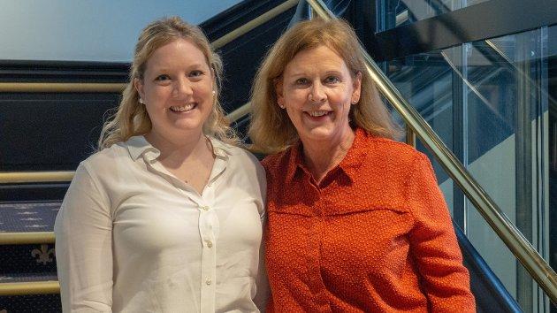 1. kandidat Aina Stenersen, og 2. kandidat Camilla Wilhelmsen, Oslo FrP