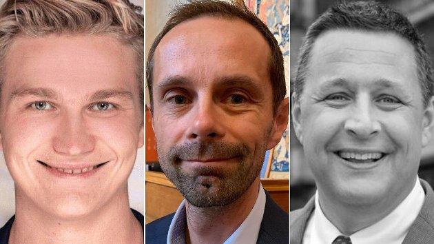 Nicolai Øyen Langfeldt (H), Hallstein Bjercke (V) og Espen Andreas Halse (KrF) undres over MDGs «tunnel-frykt».