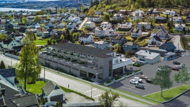 PLANER: Skarpsno har planer om leiligheter og næringsbygg ved Fastland.