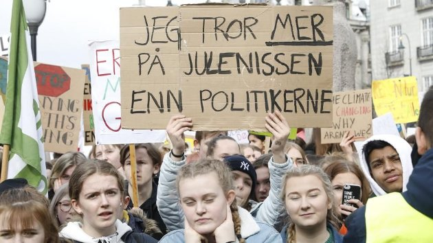 MILJØ: Ungdommen streiker for miljøet. Besteforeldre støtter dem, skriver Tormod Knutsen.