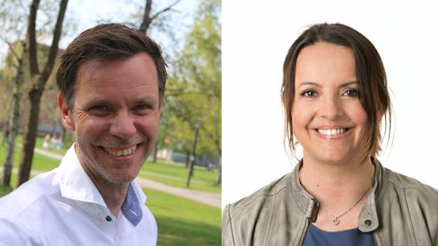 Bente Seierstad og Truls Vasvik, stortingskandidater Vestfold, Arbeiderpartiet