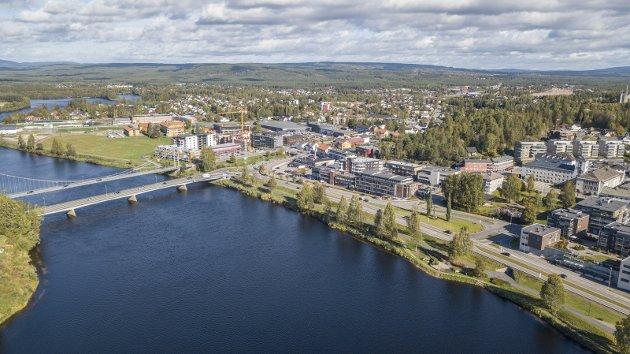 Attraktiv by: Lange vil gjøre Elverum til en mer attraktiv by å flytte til og vokse i for næringsetablering, men også bolyst og trivsel.Foto: Tor Bergebakken