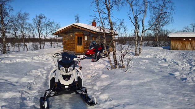 Snøscooter hytte
