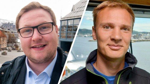 Erlend Svardal Bøe, stortingskandidat (H) for Troms, og Bård Ludvig Thorheim, stortingskandidat (H) for Nordland
