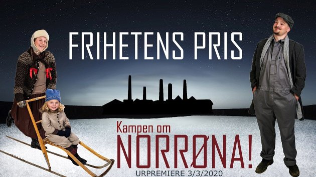 Plakat laget for Lillestrøm Folketeaters oppsetting av 'Frihetens pris'.