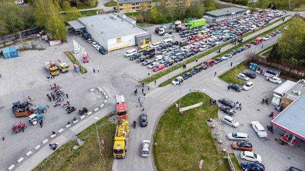 EIDSVOLL: Dronebilder av Borgertoget