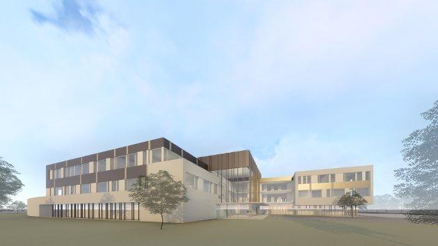 Slik kan Sætre skole se ut om man river dagens skole og bygger helt om.