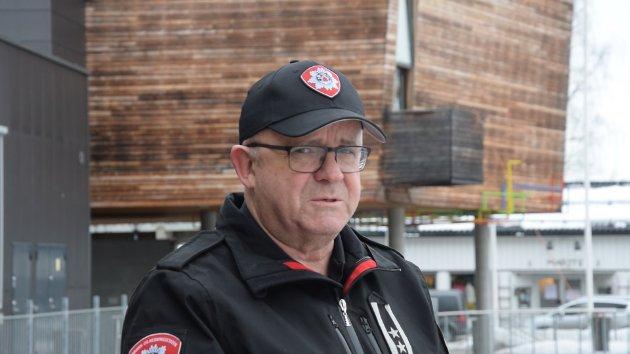 """FULL KONTROLL: Ansvarlig leder for øvelsen Ragnar """"Radar"""" Kvennodd ved Oslo brann- og redningsetat, IUA Region 3, har stålkontroll over situasjonen, enn så lenge."""