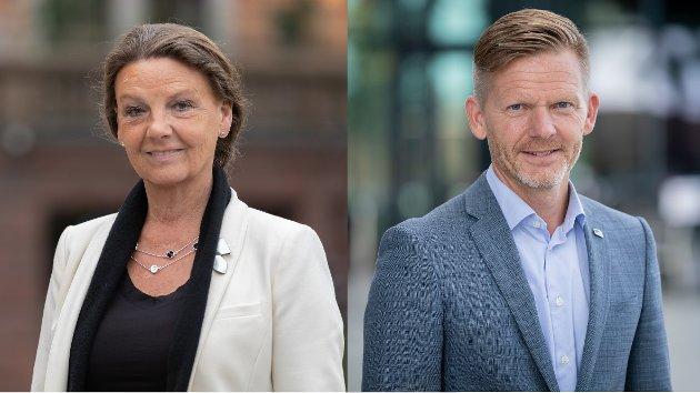 Ingjerd Schou og Tage Pettersen, stortingsrepresentanter for Østfold Høyre. (Foto: Hans Kristian Thorbjørnsen)