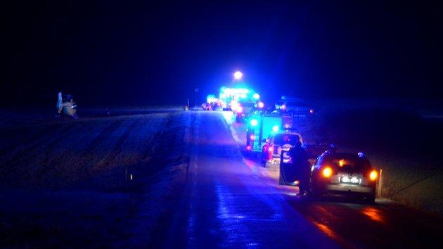 Fra trafikkulykken ved Sukken camping i Marker natt til julaften.