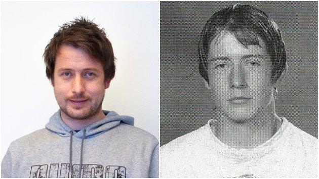 SÆR: Biletet til høgre er frå Skulekatalogen i 2002, på tida då alt byrja å snu.  Dagens utgåve, med 19 år meir livserfaring, til venstre.