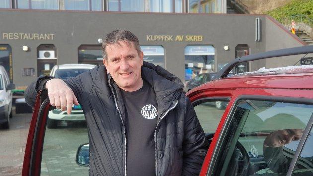 Rune Kristiansen takker for god hjelp da han ble overrasket av vinterføret. (arkivfoto)