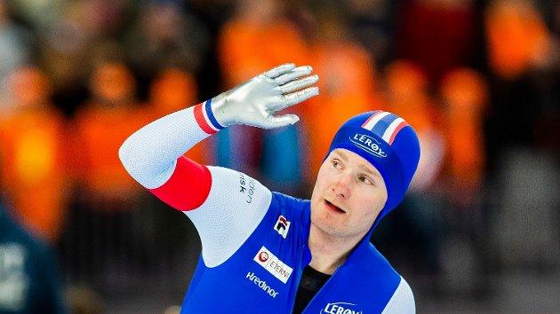 SAVNET: Sverre Lunde Pedersen kunne juble over VM-sølv i Vikingskipet på Hamar nylig. Men i lokalavisene i Vestfold og Telemark sto det ingenting å lese om bragden, konstaterer Bjørn Harald Rørvik.