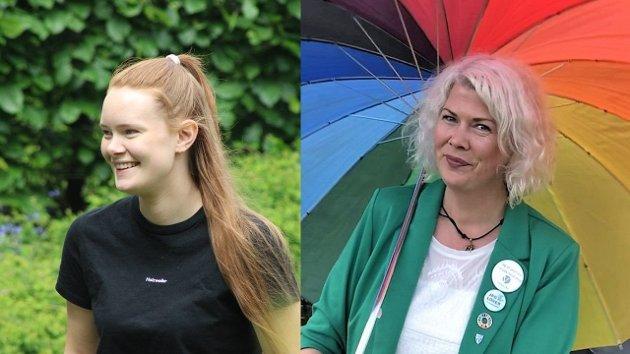 VIL BLI BEST: Norge må bli Europas beste nasjon når det gjelder LHBT-rettigheter, mener Venstre-politikerne Ingrid Åmlid (t.v.) og Suzy Haugan.