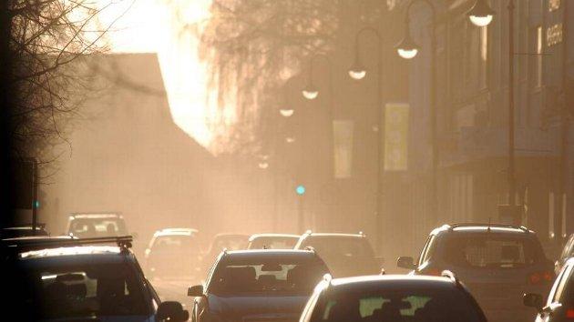 Biltrafikken i Levanger sentrum