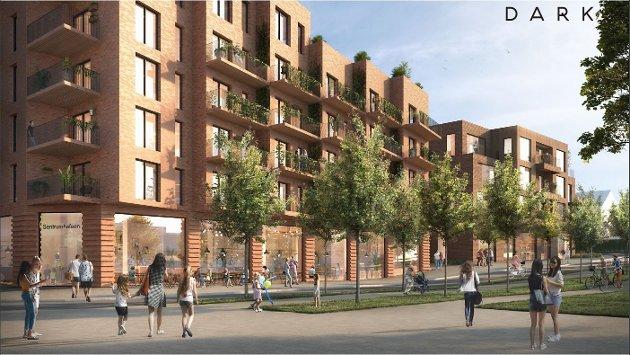 BY ELLER BYGD?: Ås bør ikke bli en regionby, skriver Arne Ellingsberg i sitt leserinnlegg. Illustrasjonen viser et av de nye kvartalene som er foreslått i Ås sentrum.