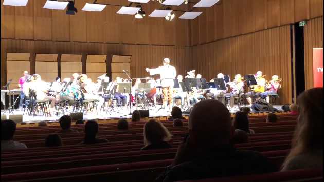 """""""Mellomkorpset"""" fremførte et fengende show spekket med sjørøvermusikk!"""