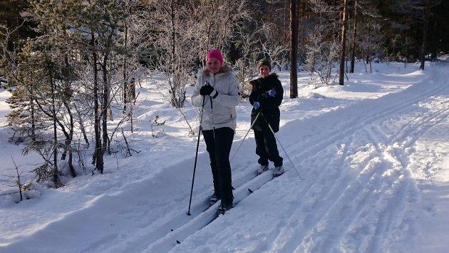 RUNDTUR I ÅSEN OVER ÅMOT: Emily og Marcus Yttrie Ølstad gikk skituren sammen med bestefar Hans Petter (fotograf).