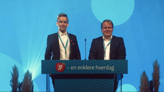 Østfold Frps Stortingsrepresentant Erlend Wiborg og Stortingskandidat Martin Örmen kjemper for en enklere hverdag for folk flest - i egen bolig!